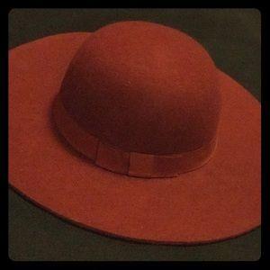 Maroon Wool Floppy Hat